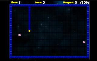 תמונה מתוך המשחק Pac-Xon