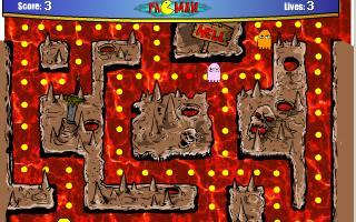 תמונה מתוך המשחק PacMan 2005